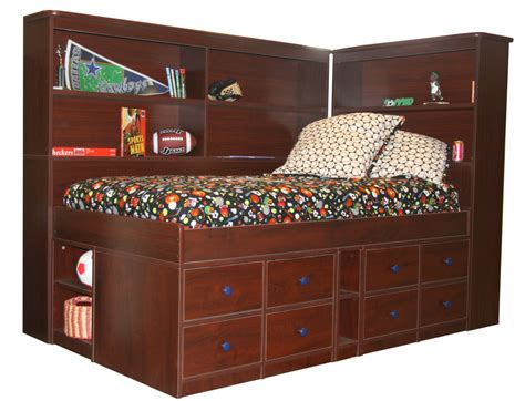bed with bookshelf twin bed headboards woodworking plans and information at