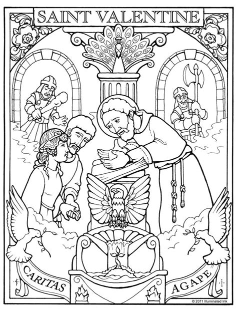 1000 Images About Feast Of Saint Valentine On Pinterest St Coloring Pages Religious