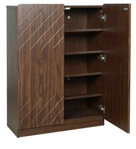 buy homes square design  door shoe rack  brown colour