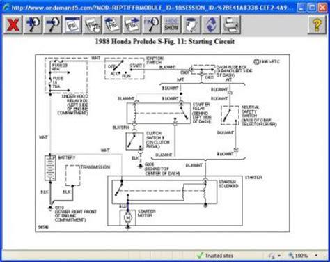 1998 honda prelude wiring diagram 1998 free engine image