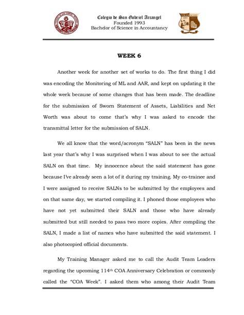 Transmittal Letter For Ojt narrative report in ojt