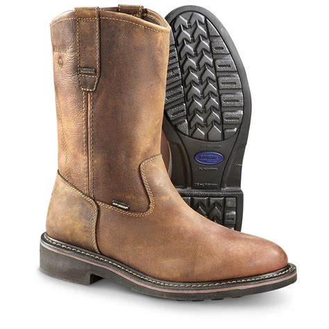wolverine s brek wellington work boots 647986 work