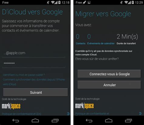 android migrate motorola migrate 1 2 1 est maintenant compatible avec icloud iphone sur android
