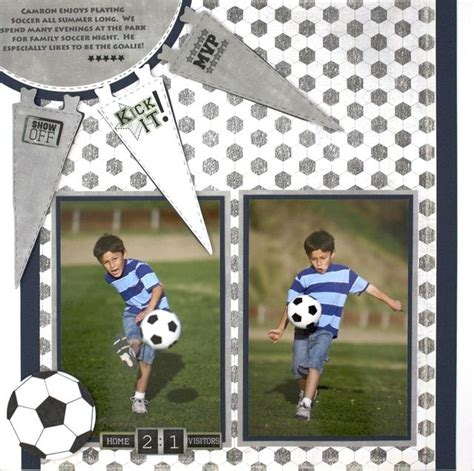 scrapbook layout soccer pin by susan dawida on scrapbooking football pinterest