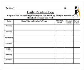 kindergarten reading log template daily reading log pdf search results calendar 2015