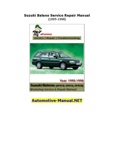 1996 suzuki esteem repair manual online suzuki baleno service repair manual 1995 1998