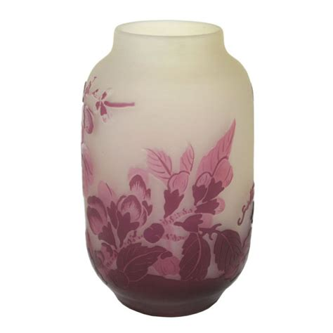galle glass vase with blossom 171 huubgeurts