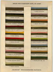 army branch colors branch colors cap piping color reference page 2