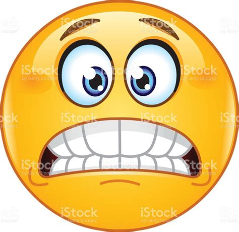 clipart faccine grimacing emoticon stock vector 518118888 istock