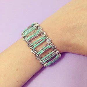 Seed bead safety pin bracelet favecrafts com