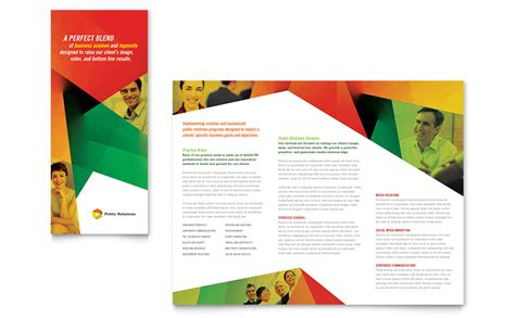 public relations company tri fold brochure template word