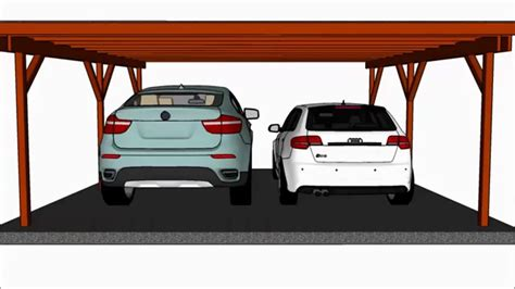 two car carport plans flat roof carport plans youtube