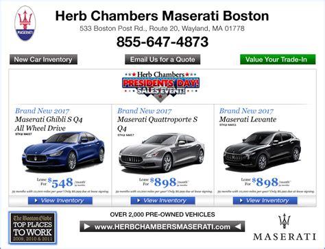 Herb Chambers Maserati by Herb Chambers Maserati Boston Boston Ma Maserati Dealers