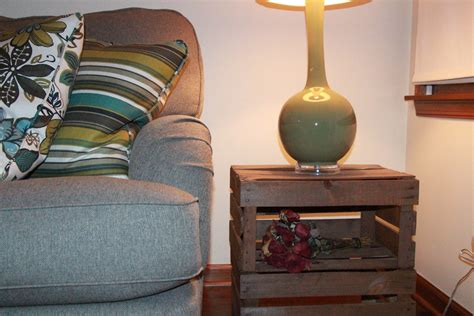 wooden crate end table 12 ways to repurpose pallets and crates in your home