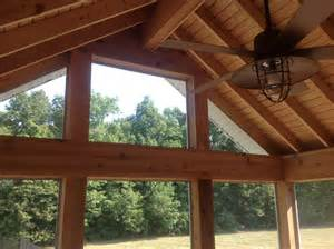 Gabled Ceiling A Brand New Gable Roof Screen Porch For These Auburn In