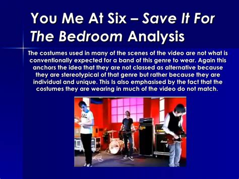 You Me At Six Save It For The Bedroom | you me at six save it for the bedroom analysis