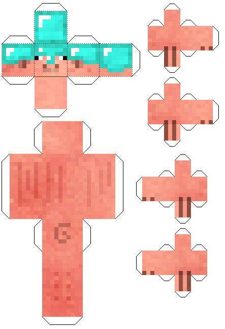 Pixelcraft Papercraft - papercraft pig with armor companion pig mod
