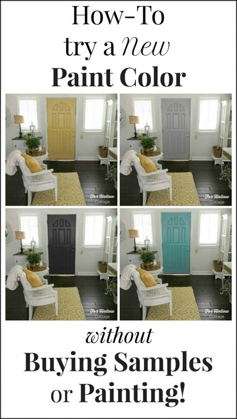 how to paint a door fast and easy fox hollow cottage