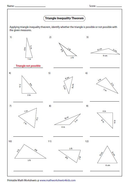 Triangle Angle Sum Worksheet by Worksheets Triangle Angle Sum Theorem Worksheet