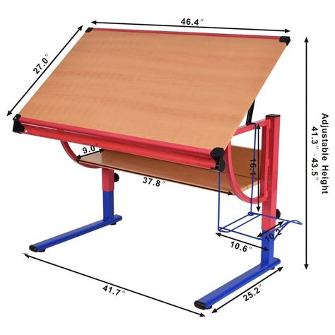 pattern drafting table height adjustable drafting table workstation drawing desk art