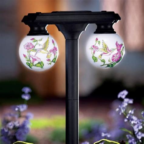 garden stake lights solar globe outdoor garden stake light by collections etc solar garden lights