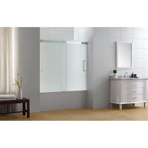 ove bathtub doors ove decors beacon 60 in x 59 in semi frameless sliding