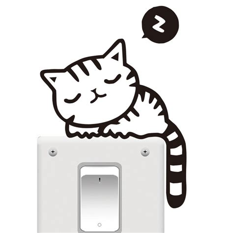Sticker Wallpaper Dinding Sleeping Cat high quality wallpaper cats promotion shop for high quality promotional wallpaper cats on