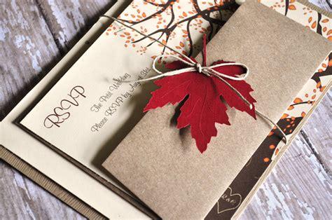 Fall Wedding Invitations by Fall Wedding Invitations Autumn Wedding By Alittlemorerosie