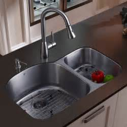 stainless steel undermount kitchen sink vigo platinum double offset undermount stainless steel kitchen sink set modern kitchen sinks