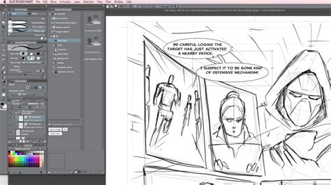 book layout design youtube making a comic book page in clip studio paint part 2