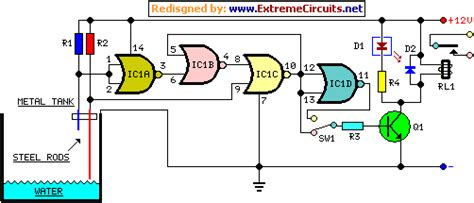 water pump relay controller circuit schematic electronic