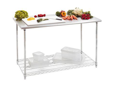 table cuisine inox achat table de travail inox de 120 cm et table de cuisine