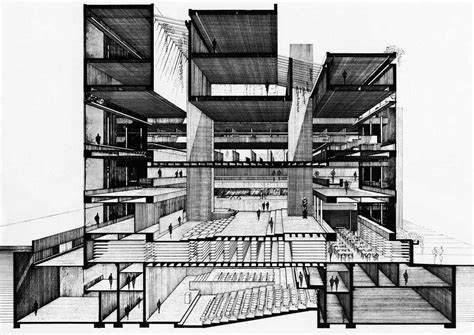 perspective section paul marvin rudolph lines marks