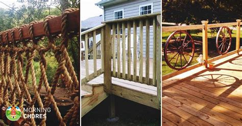 diy backyard deck ideas 32 diy deck railing ideas designs that are sure to
