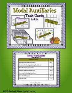 Task Card Answer Sheet Template by Modal Auxiliary Verbs Powerpoint Students Language Arts