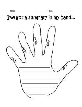 Hand Summary by Anna Evans | Teachers Pay Teachers