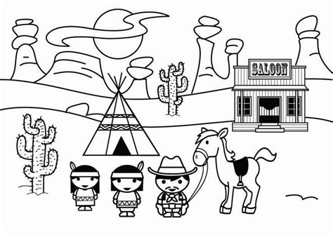 free wild west coloring pages