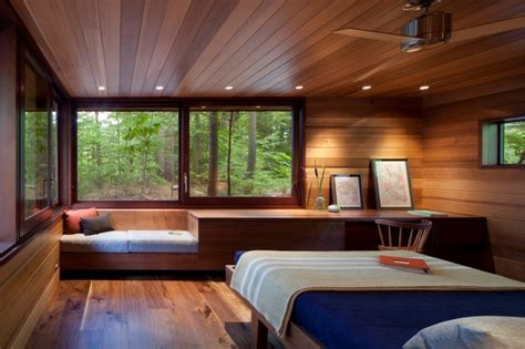 frank lloyd wright bedroom frank lloyd wright inspired lakeside home modern