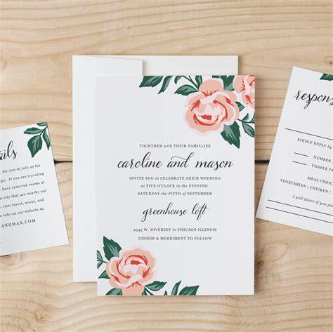 Diy Wedding Invitation Template Colorful Floral Word Or Diy Invitation Templates