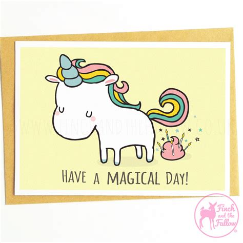 free printable birthday card unicorn funny illustration unicorn birthday card by finchandthefallow