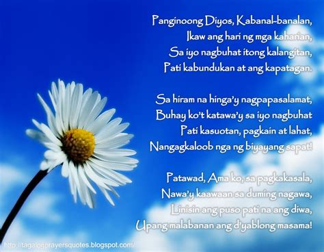 tagalog prayers and christian quotes october 2012