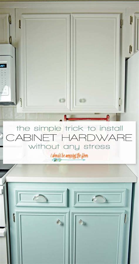 installing hardware on kitchen cabinets i should be mopping the floor easy cabinet hardware installation trick
