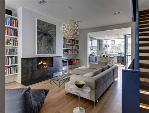 chiminea nyc modern townhouse in new york city by ben hansen architect