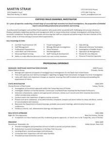 Certified Fraud Examiner Sle Resume martin straw cfe certified fraud examiner resume