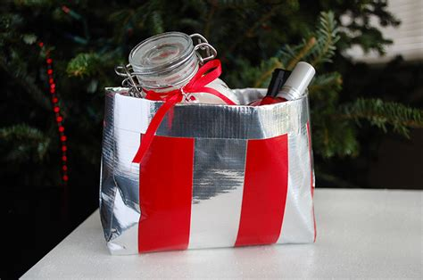 diy christmas gift idea 6 duct tape bag sprightliest