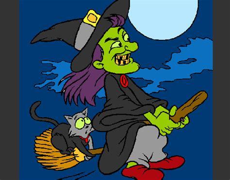 imagenes de brujas volando halloween dibujo de bruja volando pintado por cri cri en dibujos net