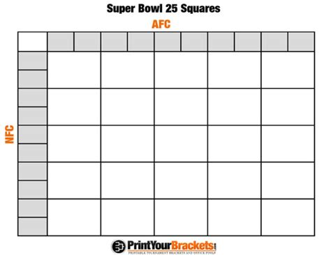 Are Office Football Pools In New York Printable Bowl Squares 25 Grid Office Pool It S