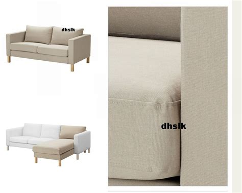 ikea karlstad loveseat cover ikea karlstad 2 seat loveseat sofa and chaise slipcover