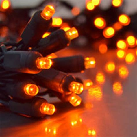 Orange Outdoor Lights Orange Miniature String Lights Black Wire
