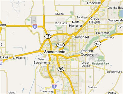 sacramento ca map map of sacramento suburbs pictures to pin on